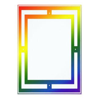 Rainbow Frame Border Invitation
