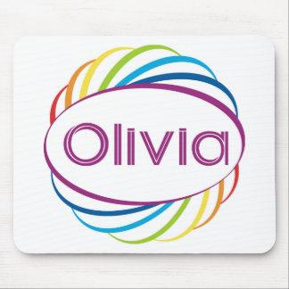 Rainbow frame Olivia Mouse Pad