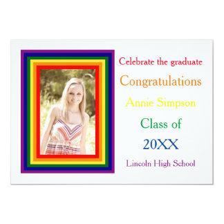 Rainbow Framed Photo - Graduation Announcement