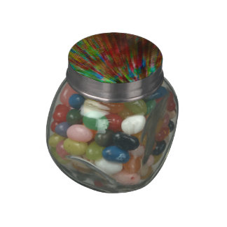 Rainbow Frazzle Candy Jar with Jelly Beans Inside Jelly Belly Candy Jars