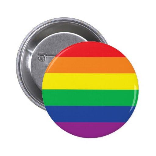 Rainbow  Freedom Gay Pride Flag Symbol Pin