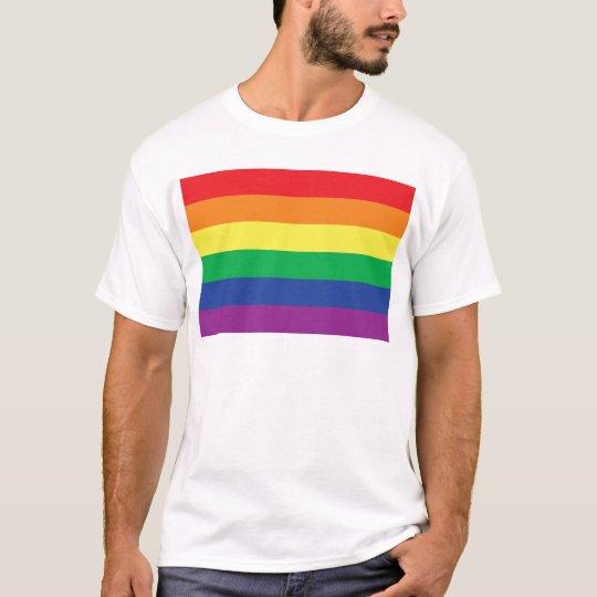 Rainbow  Freedom Gay Pride Flag Symbol T-Shirt