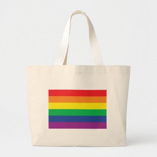 Rainbow  Freedom Gay Pride Flag Symbol Tote Bags