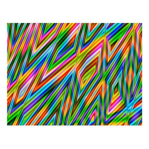 Rainbow Freeze - Geometric Fractal Postcards