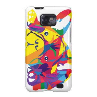 Rainbow French Bulldogge Samsung Galaxy S2 Case