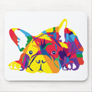 Rainbow French Bulldogge Mouse Pads
