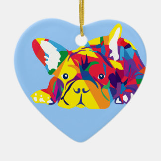 Rainbow French Bulldogge Christmas Ornament