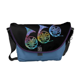 Rainbow French Horns Courier Bag