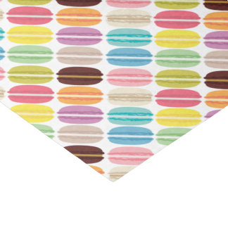 """Rainbow French Macarons Pattern 10"""" X 15"""" Tissue Paper"""