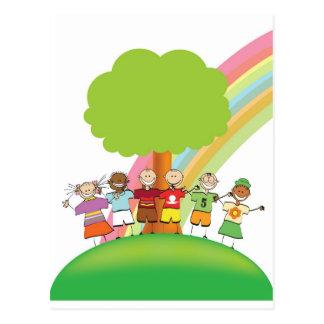Rainbow Friends Postcard