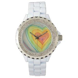 Rainbow Friendship Hearts Custom Watch Design