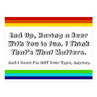 Rainbow Friendship postcard