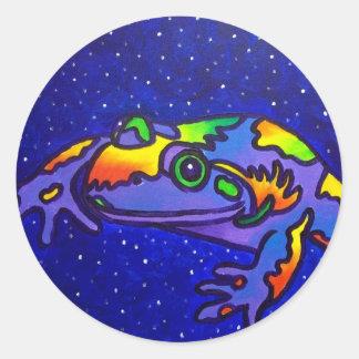 Rainbow Frog by Piliero Classic Round Sticker