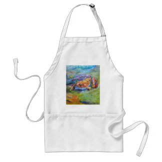 Rainbow Frog Fine Art Colorful in Water Adult Apron