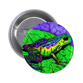 Rainbow Frogs 2 Inch Round Button
