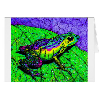 Rainbow Frogs Card