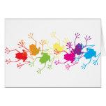 Rainbow Frogs Card