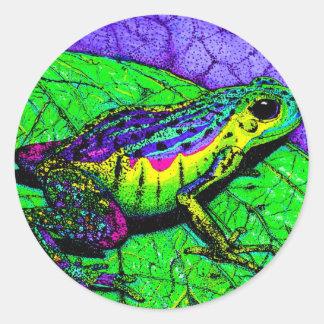 Rainbow Frogs Classic Round Sticker