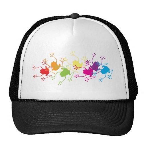 Rainbow Frogs Trucker Hat