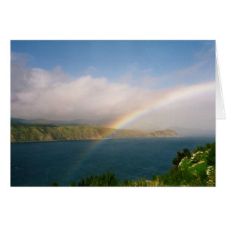 Rainbow from a hilltop card