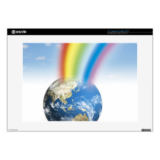 """Rainbow from Earth 15"""" Laptop Skins"""