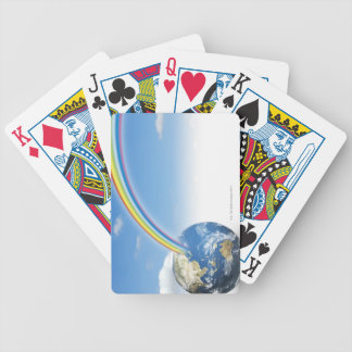 Rainbow from Earth 2 Bicycle Playing Cards