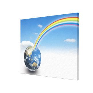 Rainbow from Earth 2 Canvas Print