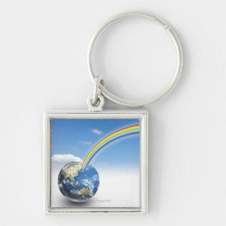 Rainbow from Earth 2 Keychain