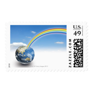 Rainbow from Earth 2 Postage