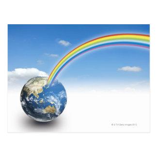 Rainbow from Earth 2 Postcard