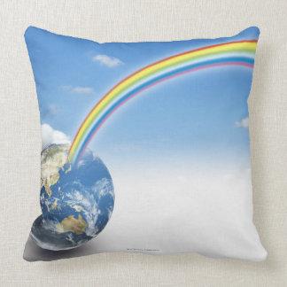 Rainbow from Earth 2 Throw Pillow
