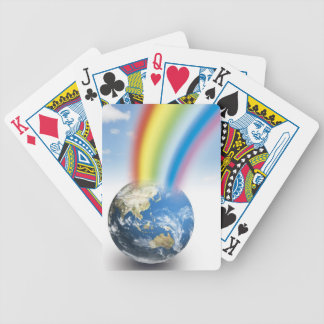 Rainbow from Earth Bicycle Playing Cards