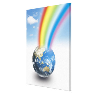 Rainbow from Earth Canvas Print