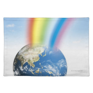 Rainbow from Earth Cloth Placemat