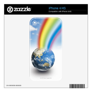 Rainbow from Earth Decals For iPhone 4S