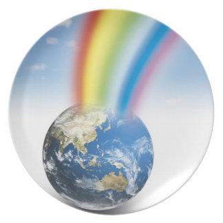 Rainbow from Earth Dinner Plate