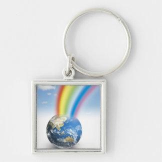 Rainbow from Earth Keychain