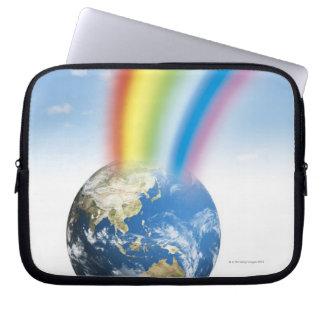 Rainbow from Earth Laptop Sleeve