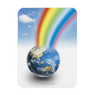 Rainbow from Earth Magnet