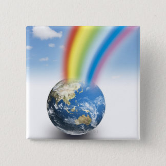 Rainbow from Earth Pinback Button