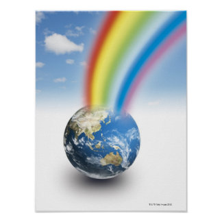 Rainbow from Earth Poster