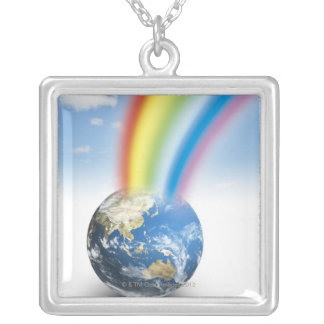 Rainbow from Earth Silver Plated Necklace
