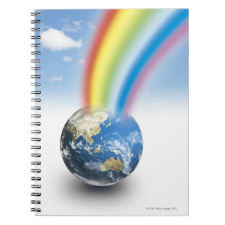 Rainbow from Earth Spiral Notebook