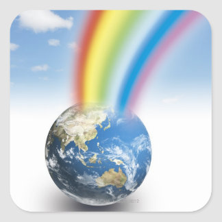 Rainbow from Earth Square Sticker