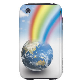 Rainbow from Earth Tough iPhone 3 Case