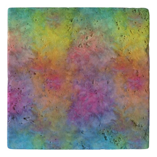 [Rainbow Frost] Multi-Colored Tie-Dye Trivet