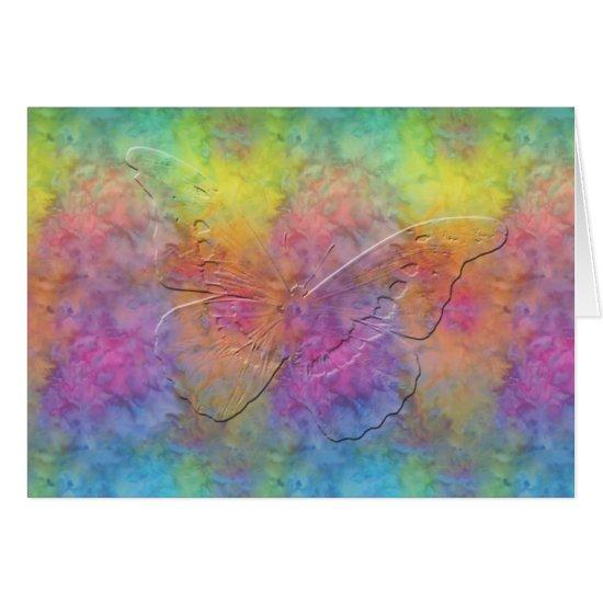 [Rainbow Frost] Tie-Dye Butterfly Card