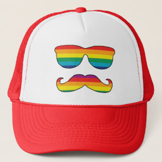 Rainbow Funny Face Trucker Hat