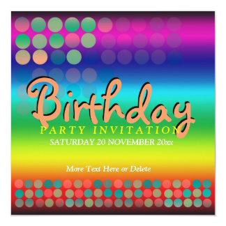 Rainbow Funtimes Birthday Party Invitation