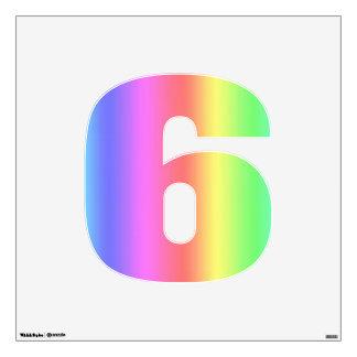 Rainbow Fusion Number Six-Medium Wall Decal